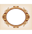 Decorative oval vintage frame vector | Price: 1 Credit (USD $1)