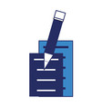 document pages and pencil icon vector image vector image