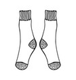 doodle socks black and white for vector image