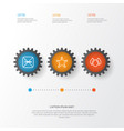 eco-friendly icons set collection of aqua vector image vector image