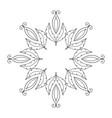 flower round ornament mandala vintage vector image