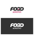 food and drinks logo with spoon winre glass on vector image vector image