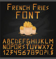 french fries font fast food font english vector image vector image