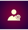 Gears icon User icon Flat design style vector image vector image