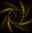 gold watch new year and christmas background vector image vector image