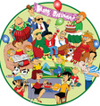 Great holiday cartoon vector image vector image