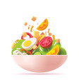 green salad icon vector image