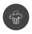 hand drawn fast food sticker blackboard icon with vector image vector image