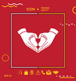 hands holding baby - protection symbol heart vector image vector image
