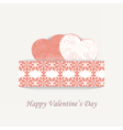 Happy Valentines Day lace card vector image vector image
