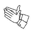 human hands applauding vector image