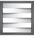 Infographics blank paper stripe banners with vector image vector image