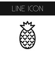 isolated pineapple outline dessert element vector image vector image