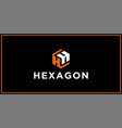 kh hexagon logo design inspiration vector image vector image