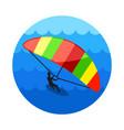 kite boarding kite surfing icon summer vacation vector image