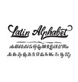 latin alphabet hand made font for your design vector image