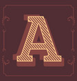 letters attractive vintage design alphabet vector image