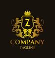 luxury letter z logo vector image