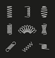 Metal springs icons set