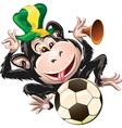 Monkey the fan vector image vector image