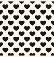 monochrome seamless pattern with heart shapes vector image vector image