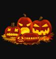 orange glowing pumpkin vector image