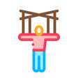 Puppet show icon outline