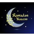 Ramadan Kareem beautiful greeting card - vector image