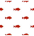 red betta fish pattern seamless vector image vector image