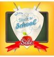 School sale background EPS 10 vector image