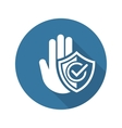Secured Area Icon Flat Design vector image