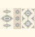 set design elements labels icon logo vector image vector image