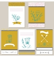 set invitation cards vector image vector image