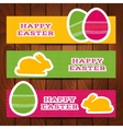 Set of Easter headers or banners vector image vector image