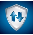 Shield icon Security design graphic vector image vector image