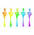 silhouette afro women colorful african woman vector image vector image