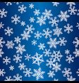 snowflakes seamless pattern vector image vector image