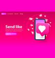social follower people heart icon like web site vector image