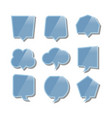 speech bubbles with reflection set vector image