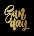 Sunday lettering phrase on dark background design