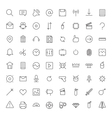 Thin Line Icons For User Interface vector image vector image