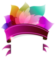 Transparent petals with ribbon vector image vector image