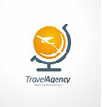 travel agency logo design idea vector image vector image