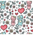 valentine day balloon seamless pattern vector image vector image