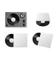 vinyl record player mockup realistic vinyl vector image