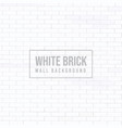 white brick wall isolated background vector image vector image