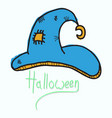 witch hat isolated on background halloween vector image vector image