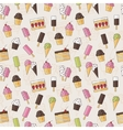 Abstract seamless background pattern with sweets vector image