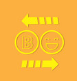 bitcoin exchange virtual or digital coin currency vector image