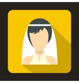 Bride icon in flat style vector image